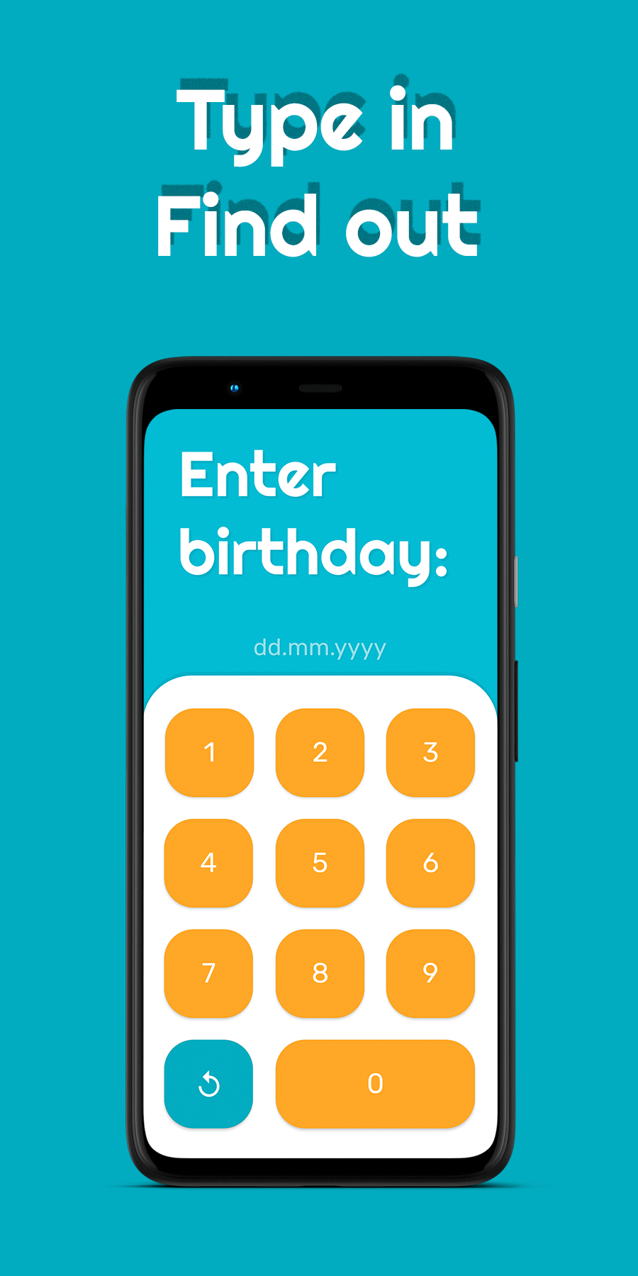 Фото FindAge – app for age determination. With this app, you can find the age of any person: your mom, grandmom, cousin, or your friend.   Android Studio, Kotlin. https://play.google.com/store/apps/details?id=com.hryniuk.findage&hl=en