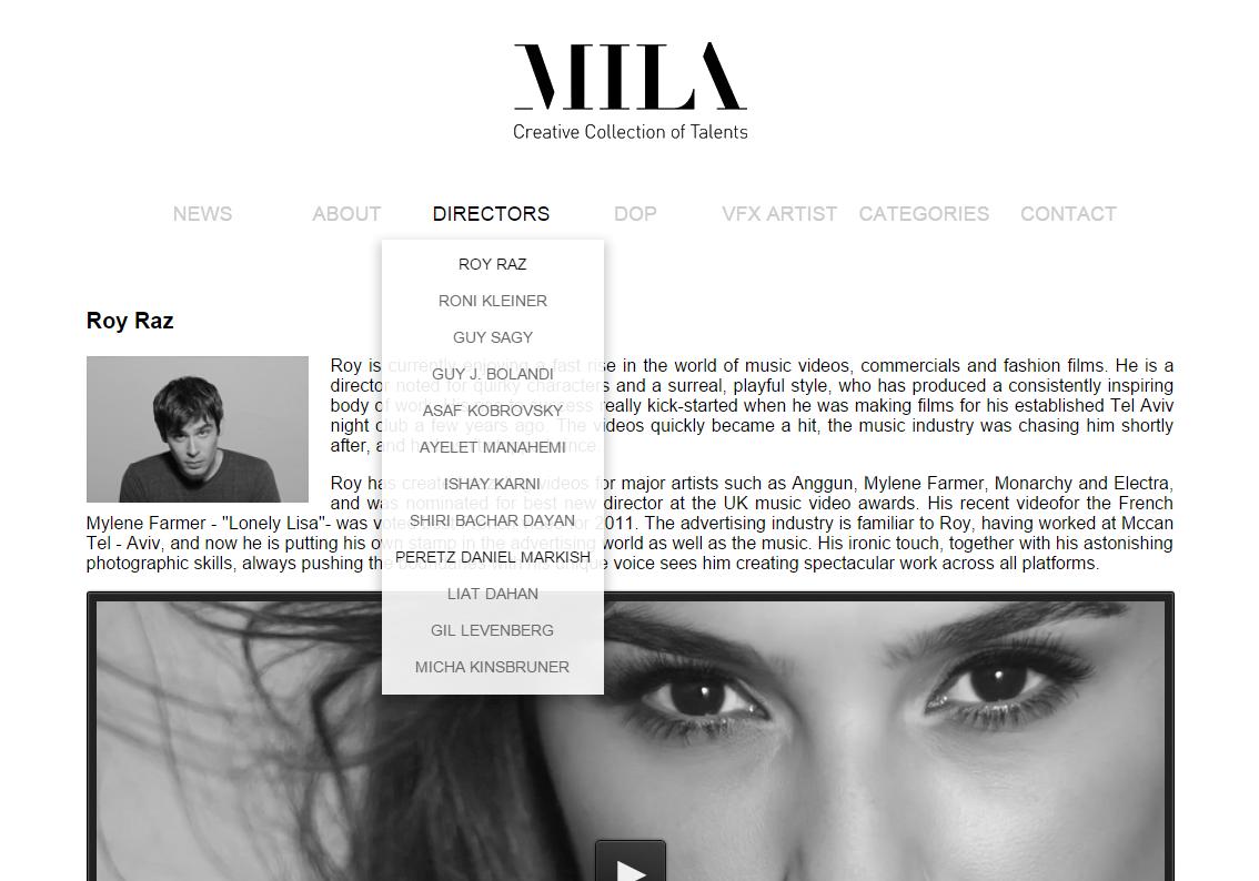 Фото Разработка сайта для Mila