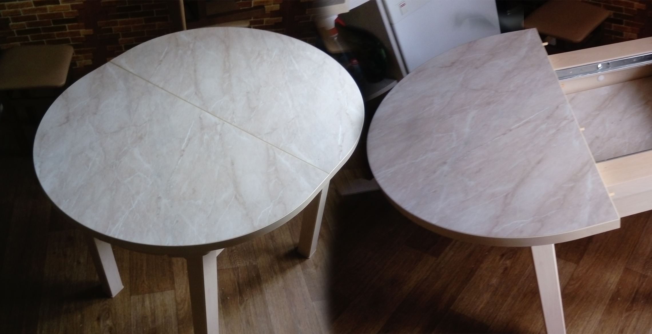 Фото Сборка фабричного кухонного, раздвижного стола.  Время затрачено: ≈1,5 часа.