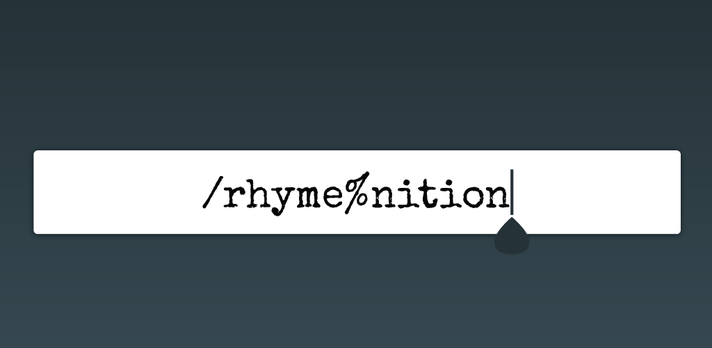 Фото Rhymenition – application to search for rhymes and subsequently display a definition of the selected word.  WebStorm, React Native. https://play.google.com/store/apps/details?id=com.rhymenition_rn&hl=en
