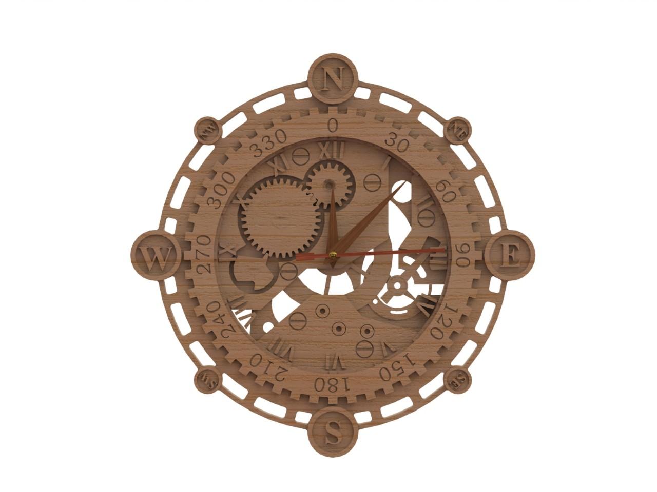 Фото Часы деревянные декоративные