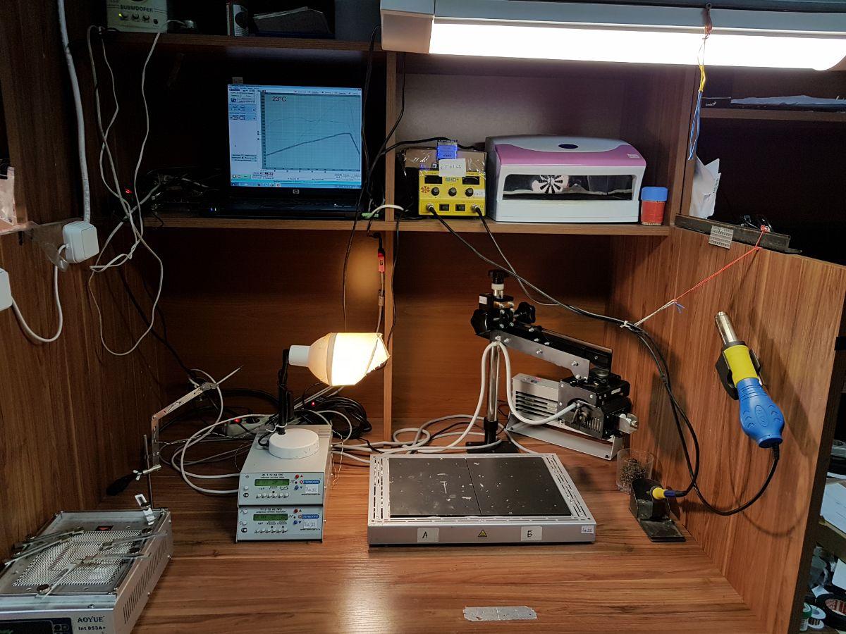 Фото Замена BGA- микросхем: видеочипа, северного и южного моста 1