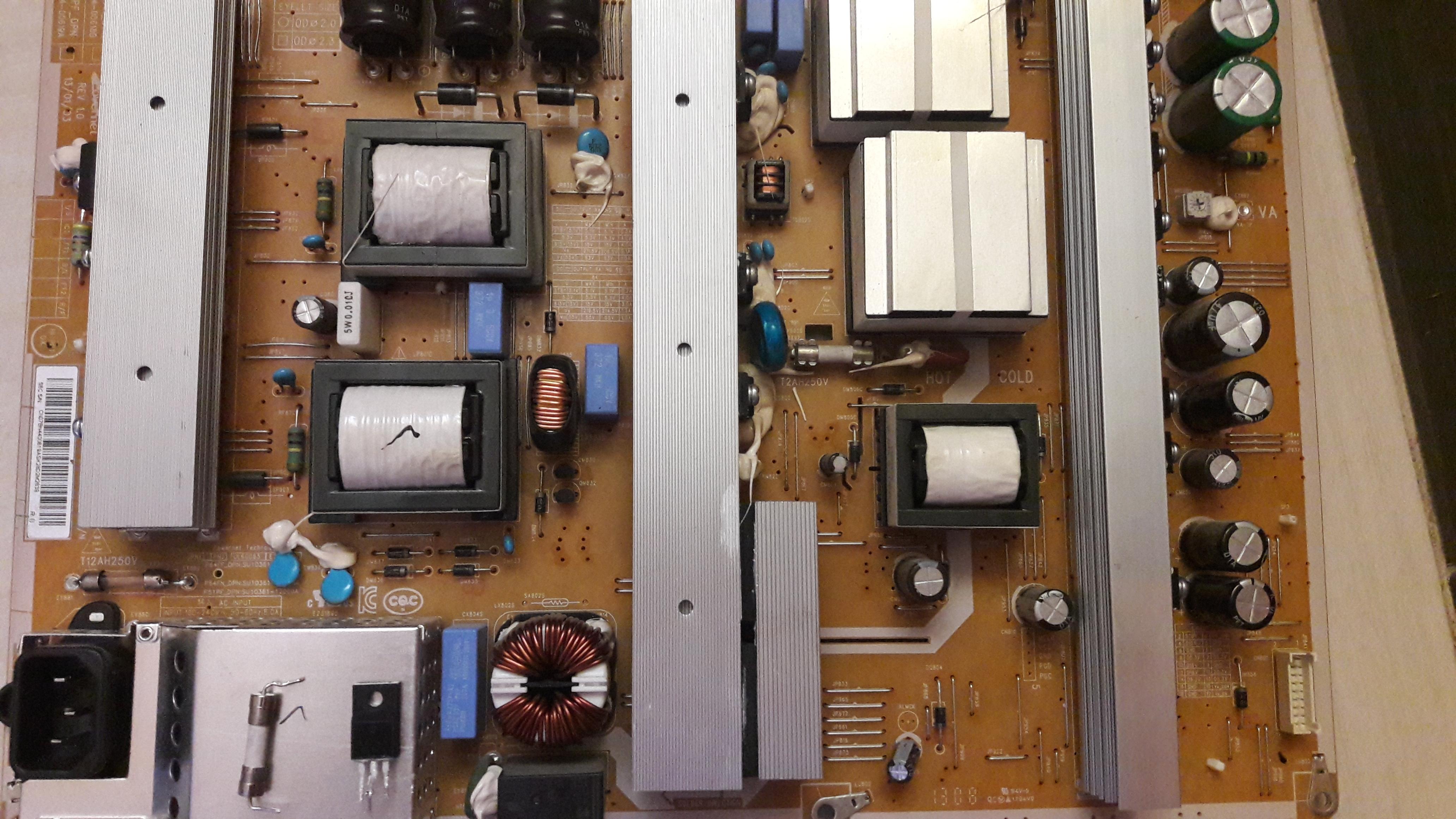 Фото ремонт блока питания Samsung UE32F5000AK