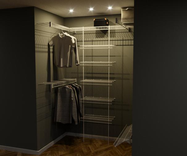 Фото Дизайн и 3D визуализация гардеробных систем для сайта Розетка