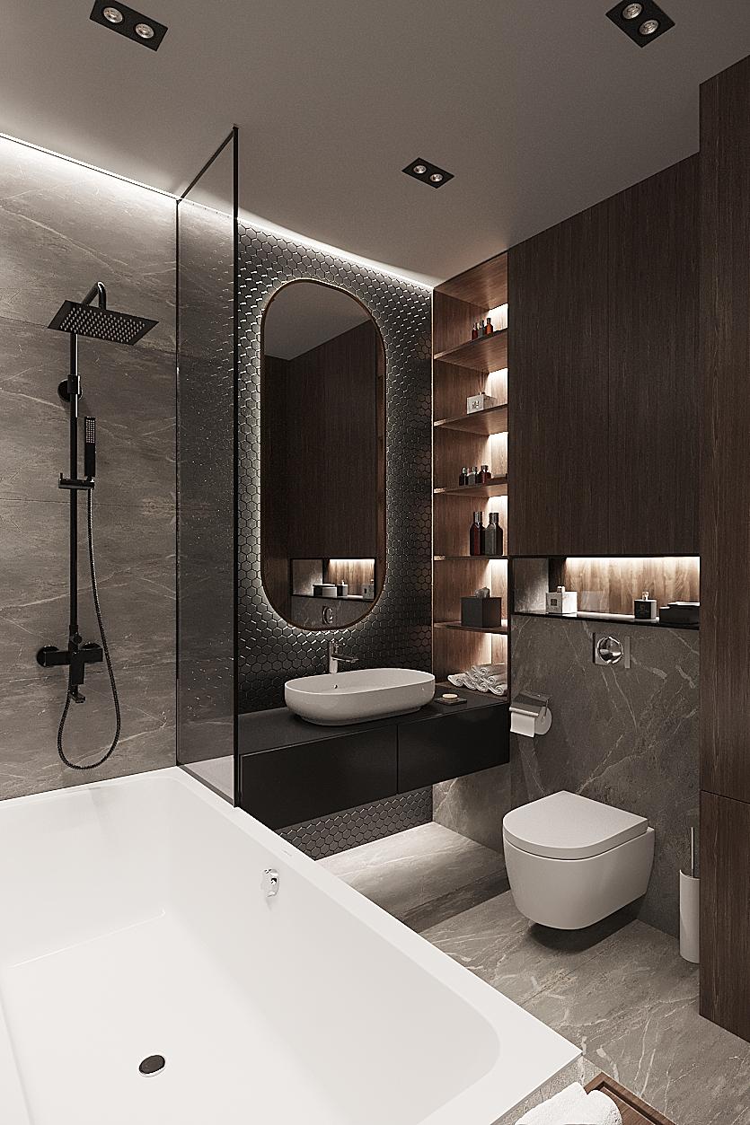 Фото Ванная 3D визуализация