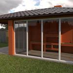 3D визуализация фасадов домов и малых архитектурных форм.