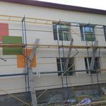 Утепление фасадов зданий пенопластом. Декоративные штукатурки (барашек, короед, мозаика).