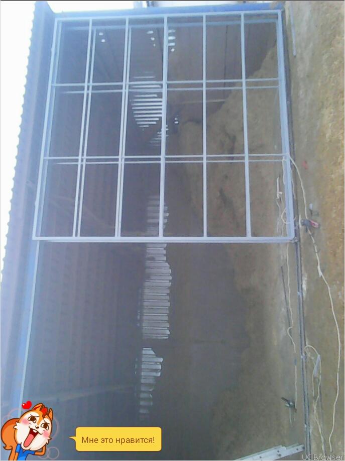 Фото Изготовление и установка окатных ворот на ферме село Мельныки. 32метра.кв