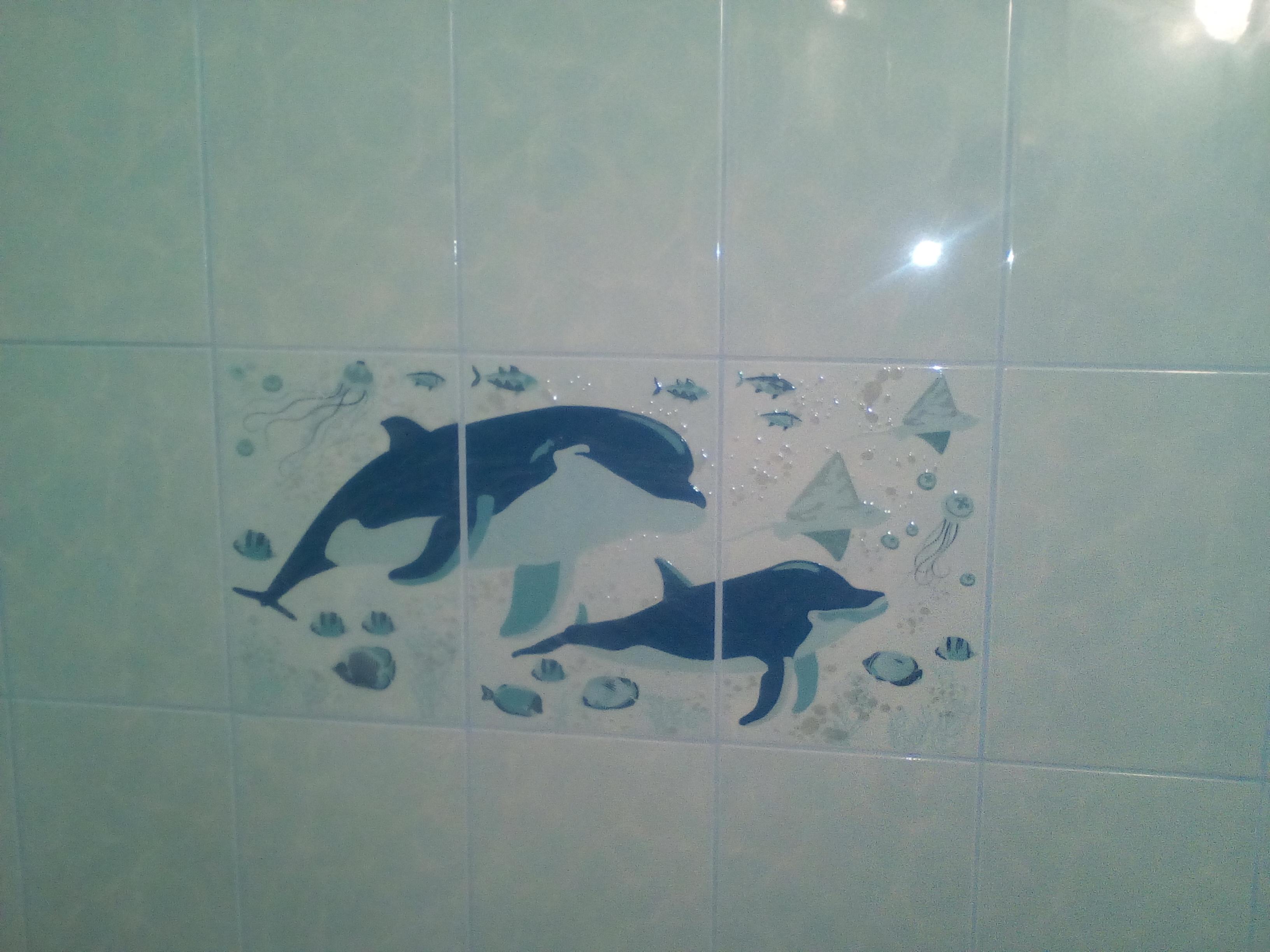 Фото Стены ванной комнаты,облицовка плиткой, 2 дня