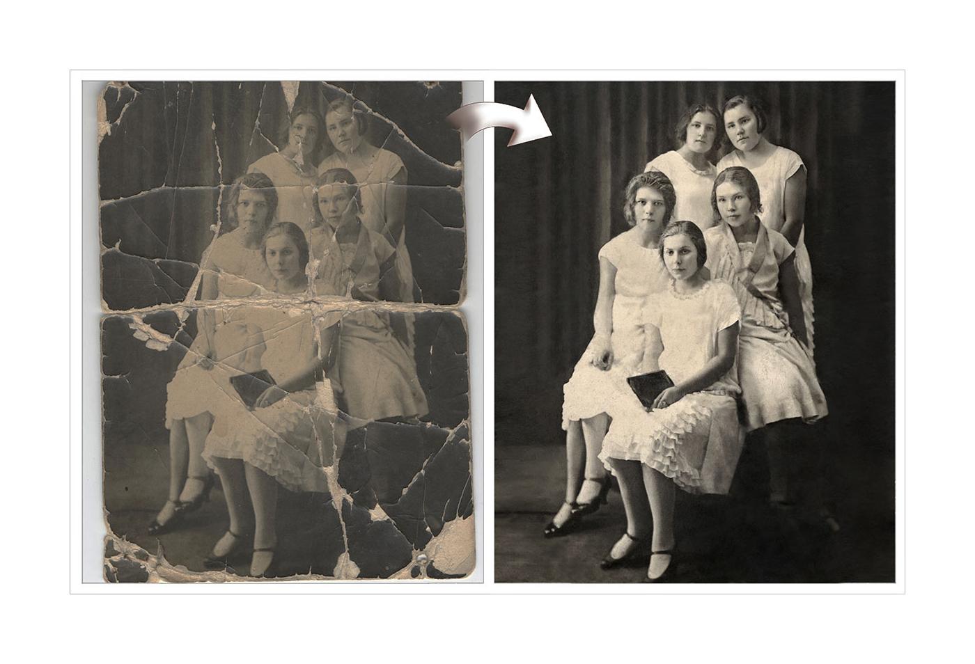 Фото Реставрация и раскрашивание фото 1