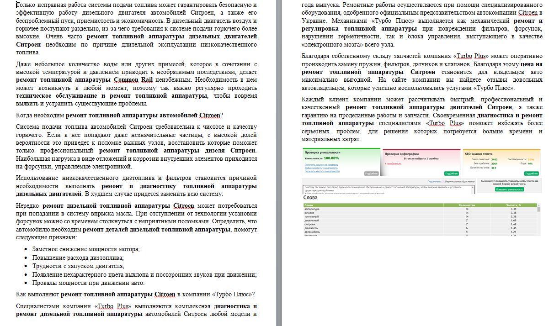 Фото В тексте более 14 ключей, которые нужно было вписать органично, и при этом, уникальный текст.