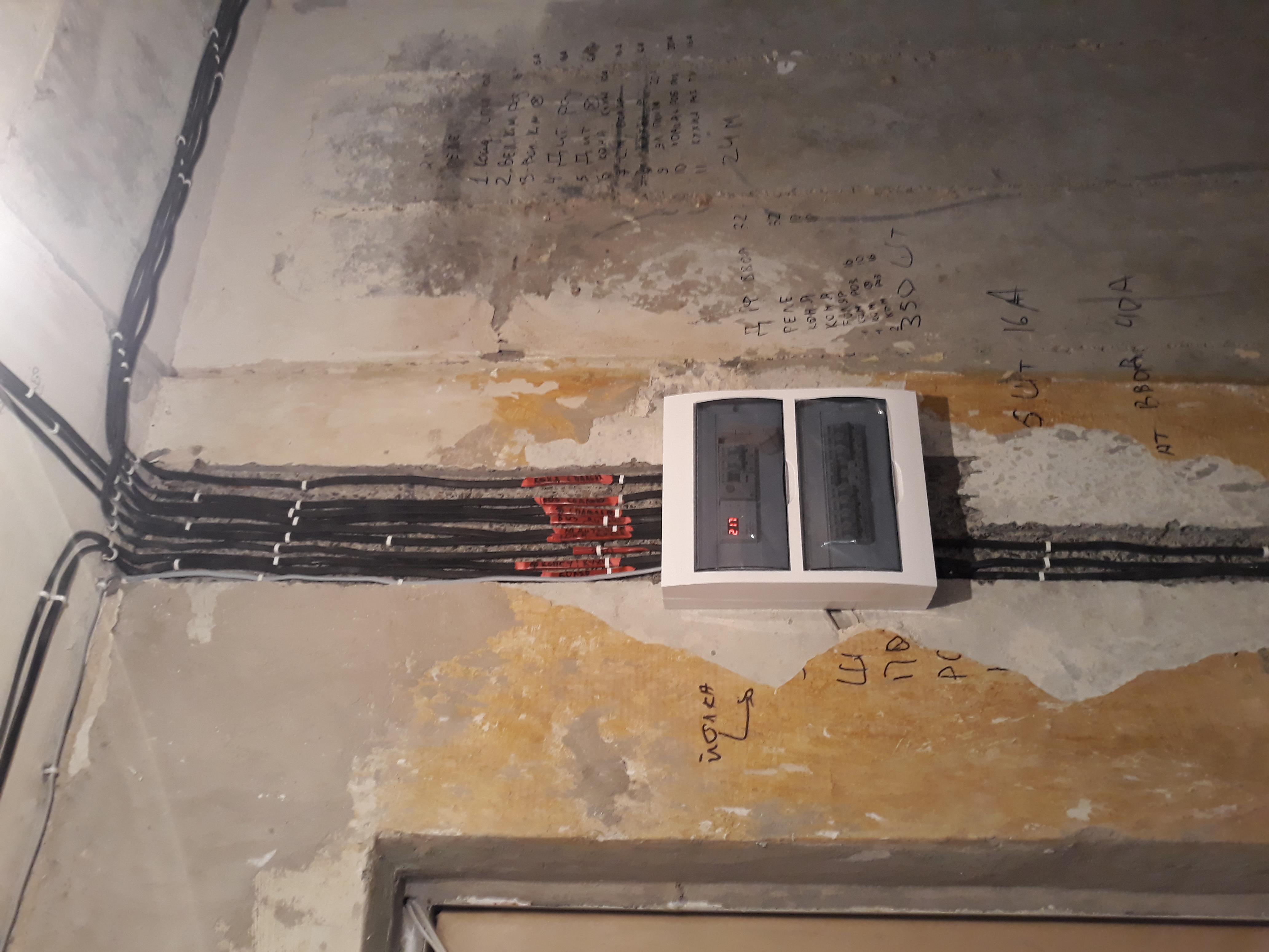 Фото Прокладка кабелів