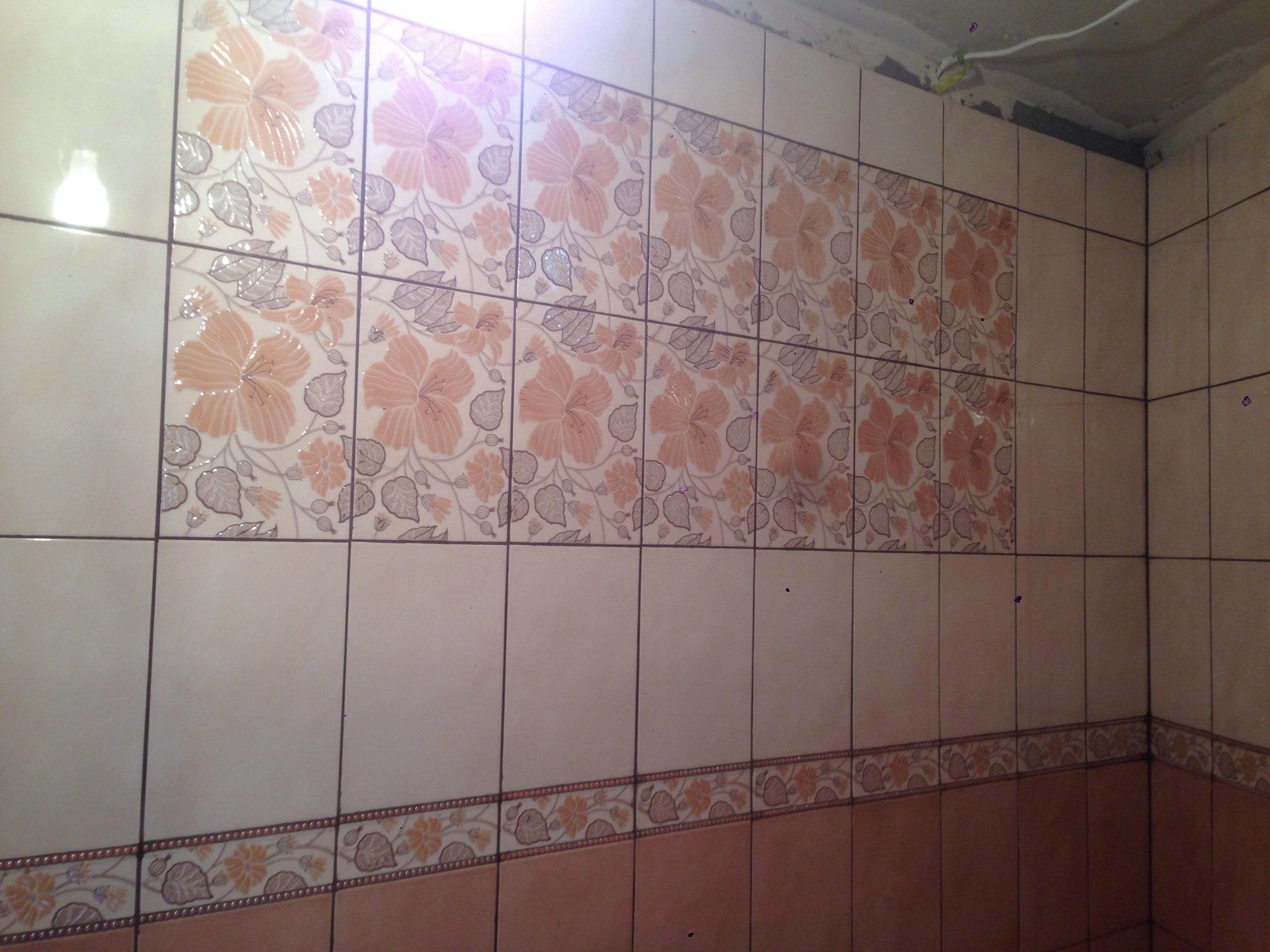 Фото Укладка плитки  на стены и полы в совмещенном санузле 20 м.кв