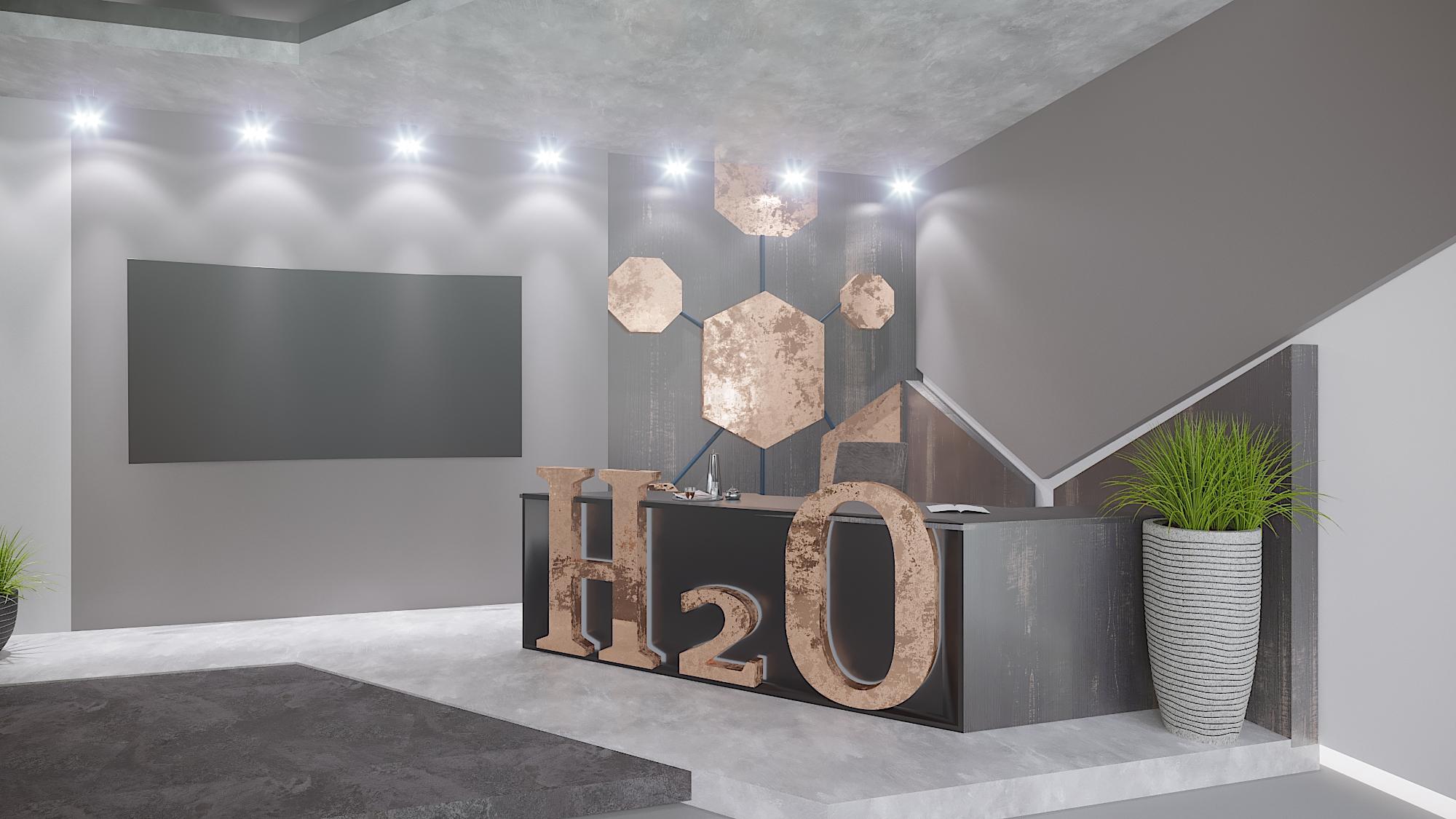 Фото Дизайн та візуалізація TV студії '' H2O''
