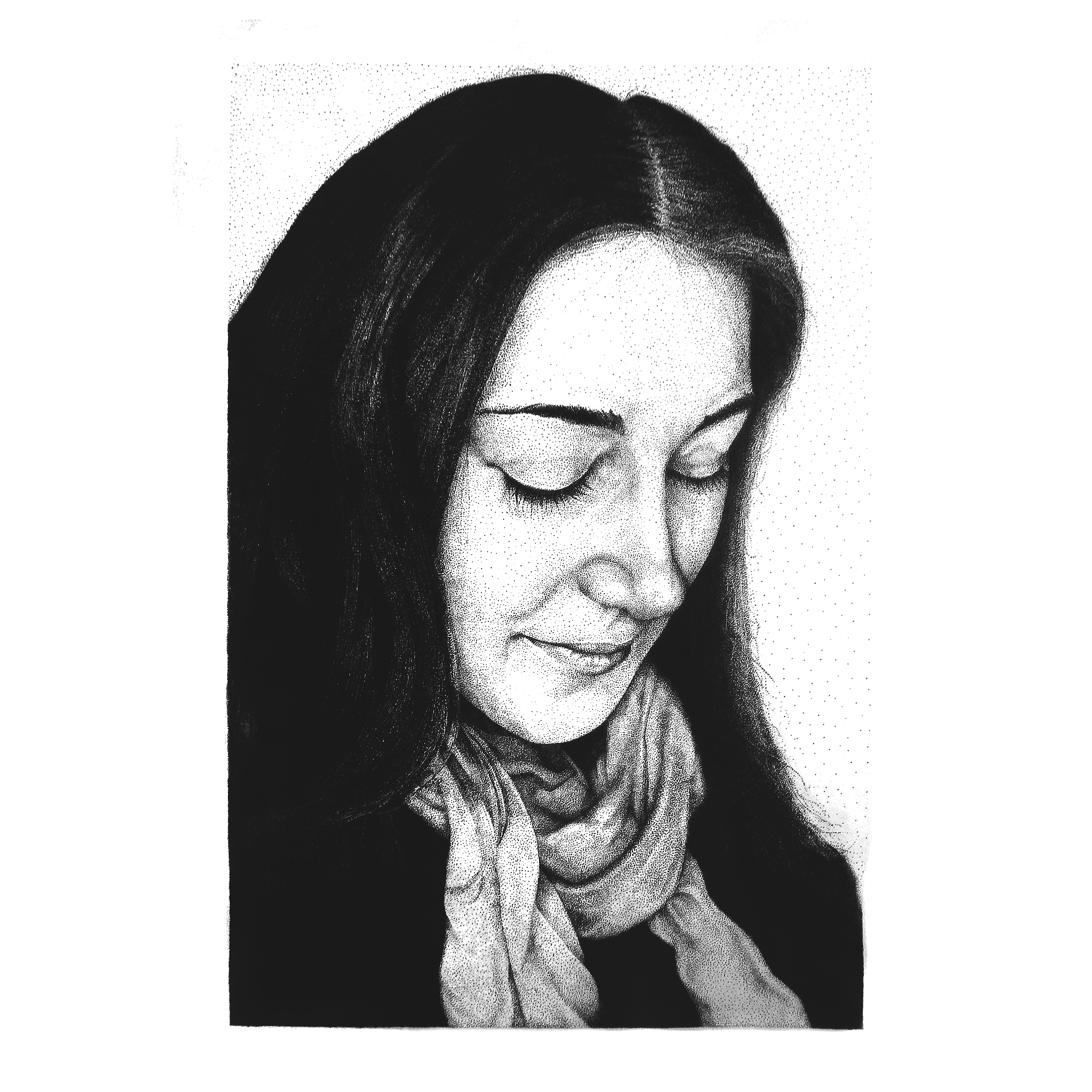 Фото Портрет на А3 в стиле пуантилизм(из мелких точек). 2 месяца работы.