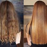 Восстановление и выпрямление волос кератином