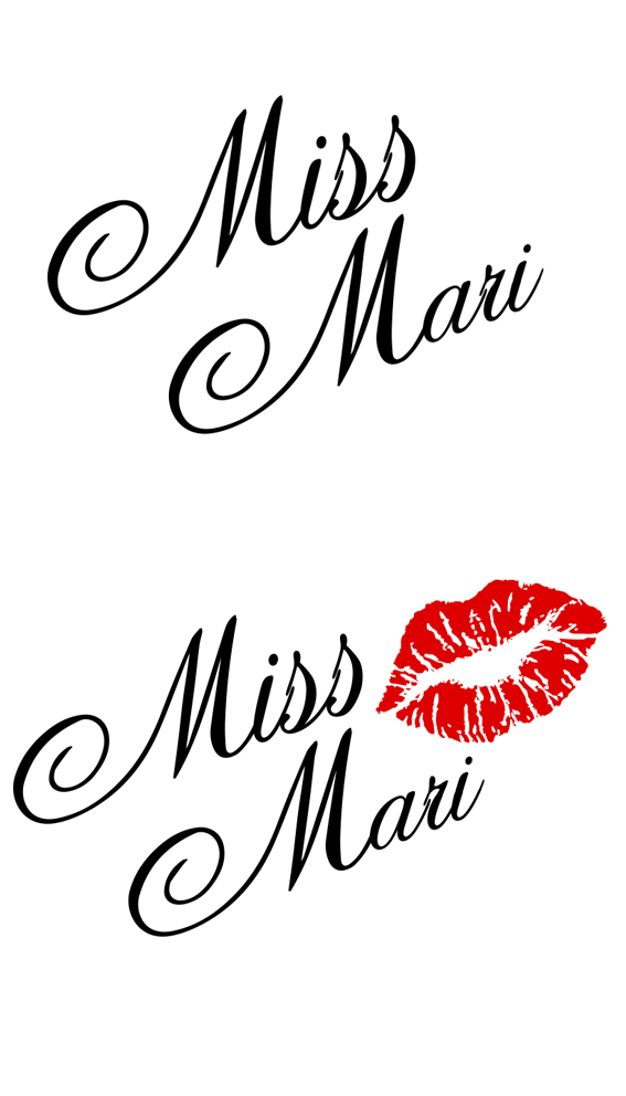 Фото Лого для дизайнерских платьев ''Miss Mari''