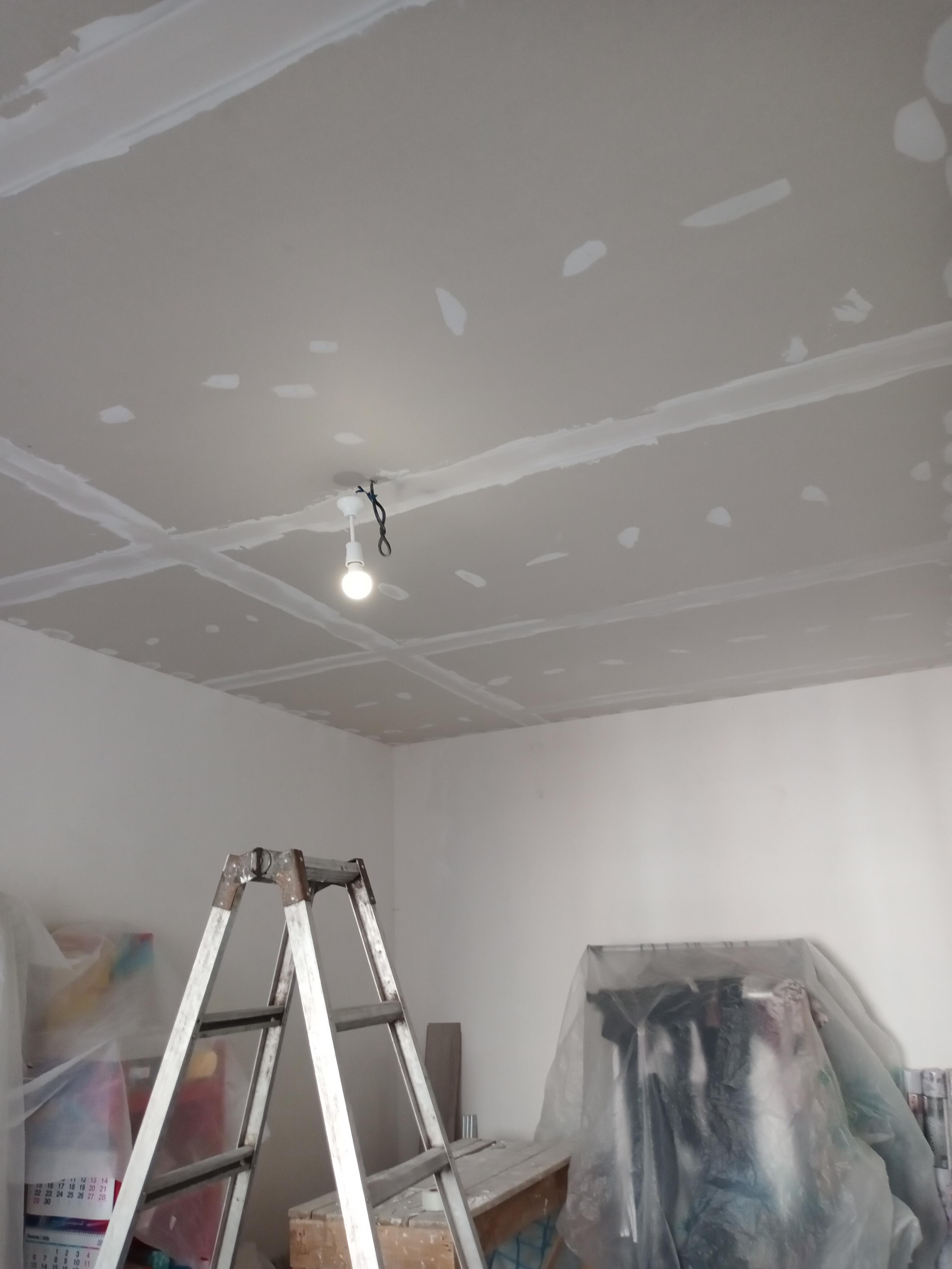 Фото Обшивка потолка гипсокартоном