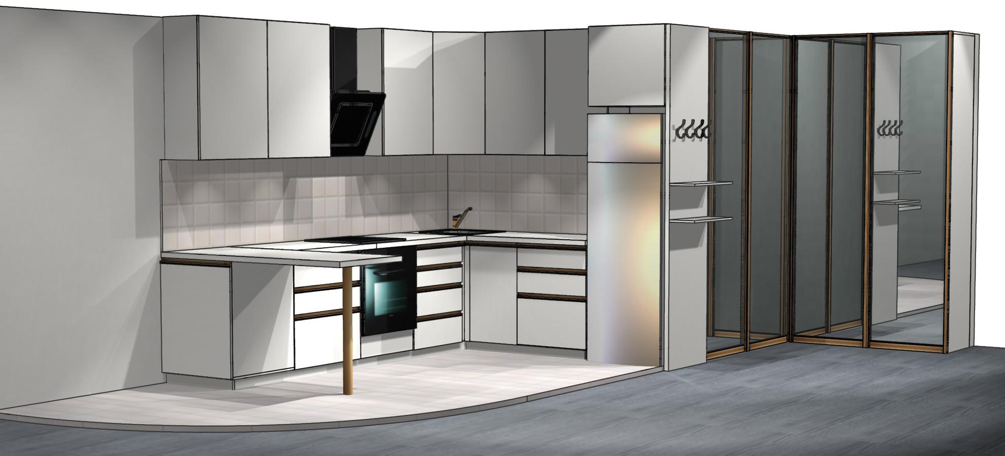 Фото Дизайн-проект любой корпусной мебели по Вашим размерам 1