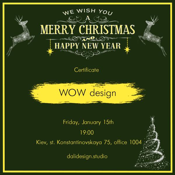 Фото Подарочный сертификат для Дизайн студии