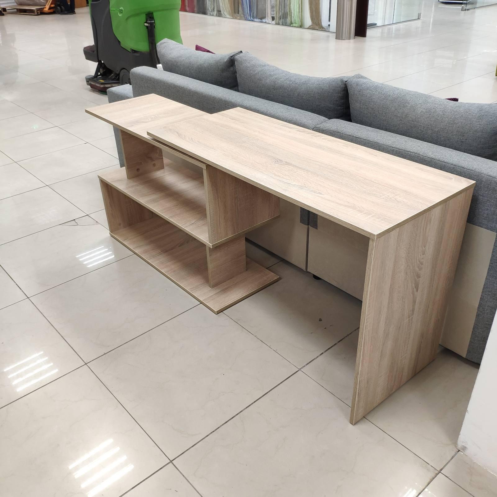 Фото Стол поворотный, ДСП Дуб Сонома. Выполнено через сервис Вияр. Выполню проект в Базис-Мебельщик 11.