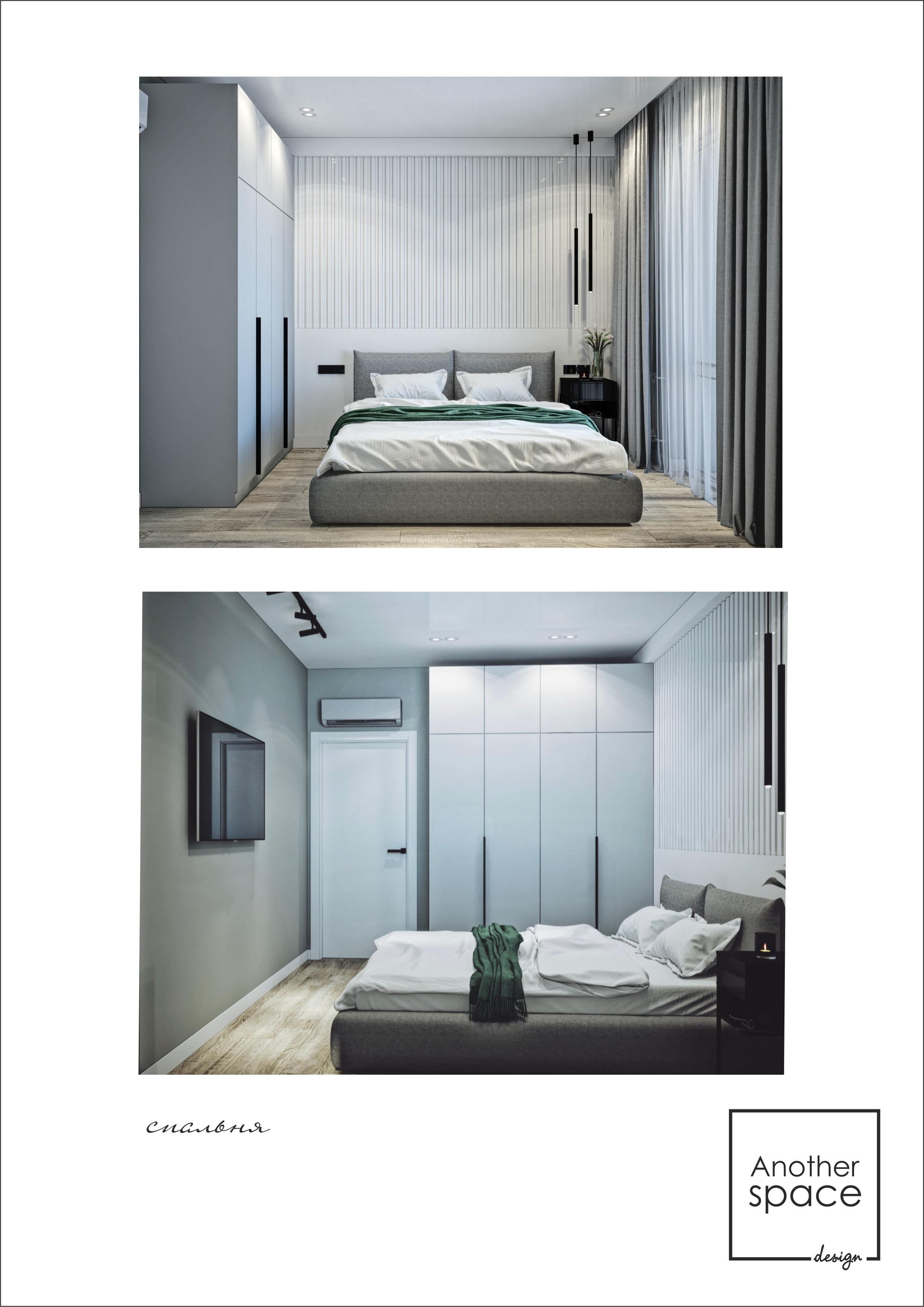 Фото Дизайн спальни жк Новая Англия
