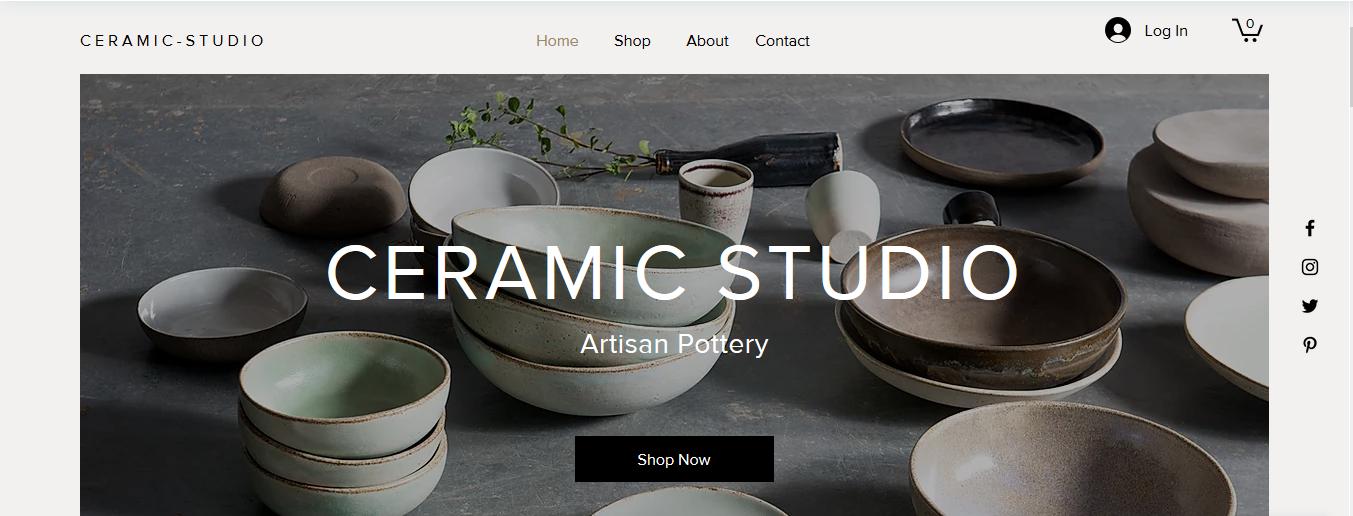 Фото Создание сайта с нуля для студии керамики