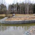 Очистка и углубление дна водоема-озера, намыв и укрепление берега