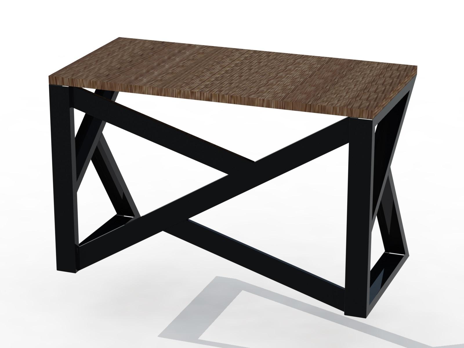 Фото Проектирование LOFT мебели, в данном варианте стол выполнен :каркас  из гнутого листового металла окрашен порошковой краской, столешница из дерева.