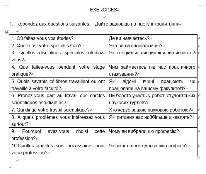 Фото Перевод Французский - Украинский