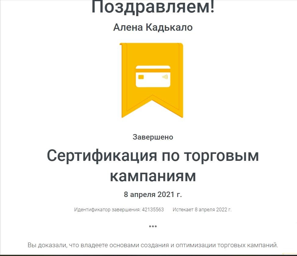 Фото Сертификация по торговым кампаниям Google/