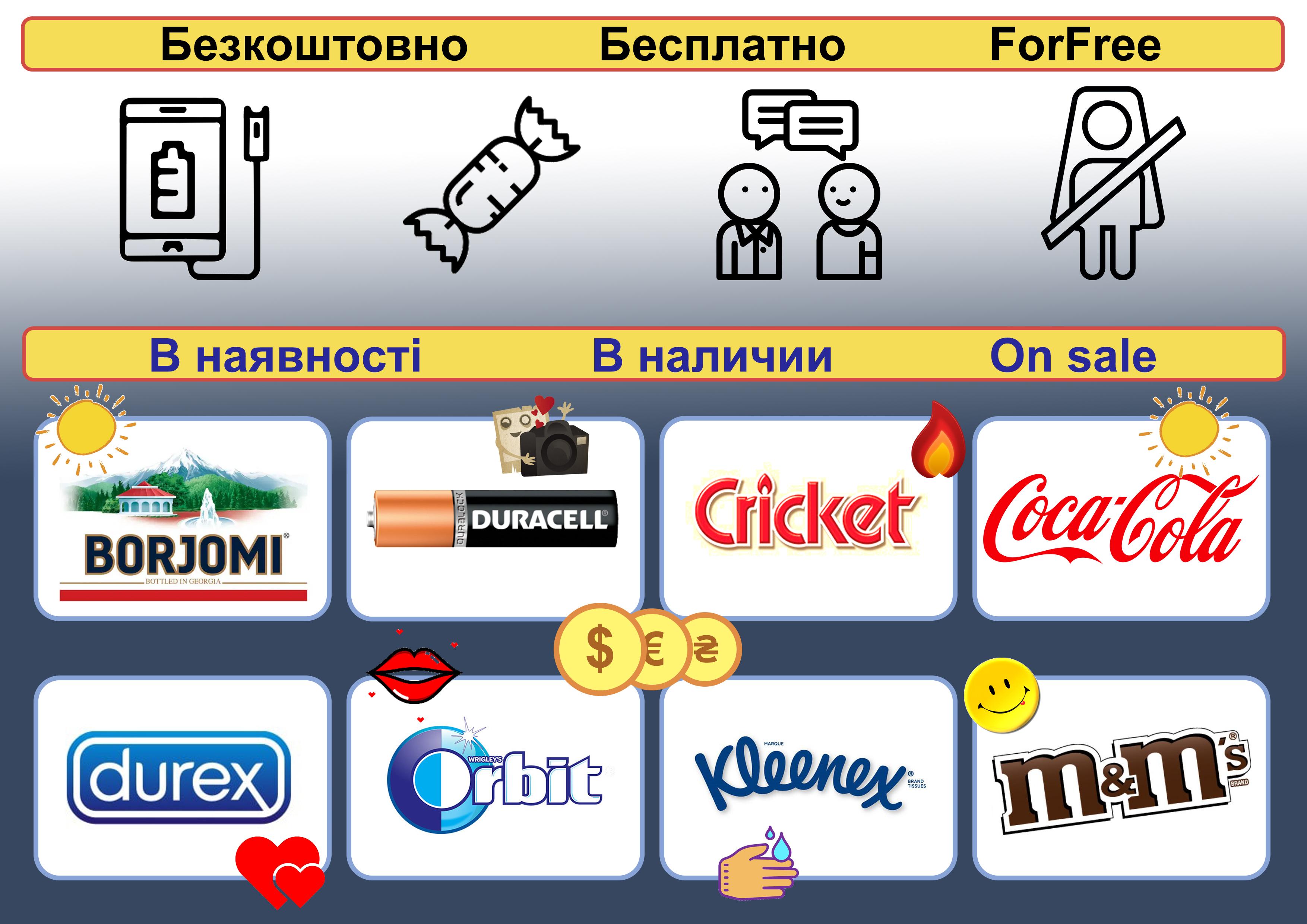 Фото Рекламная табличка о доступных сервисах в такси.