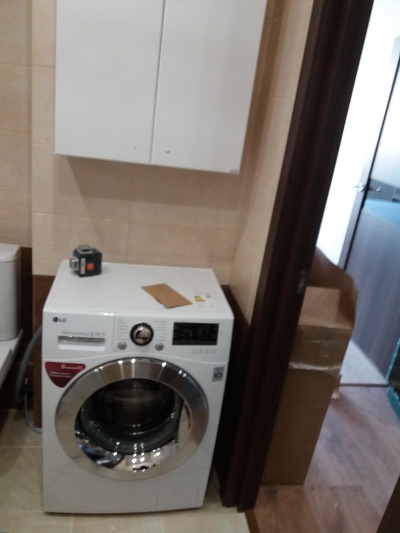 Фото Встановлення пральної машинки.