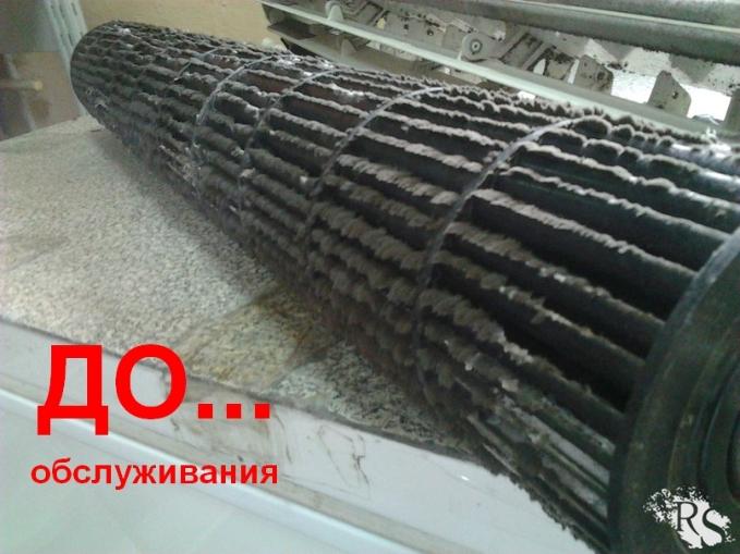 Фото Турбина внутреннего блока кондиционера до чистки