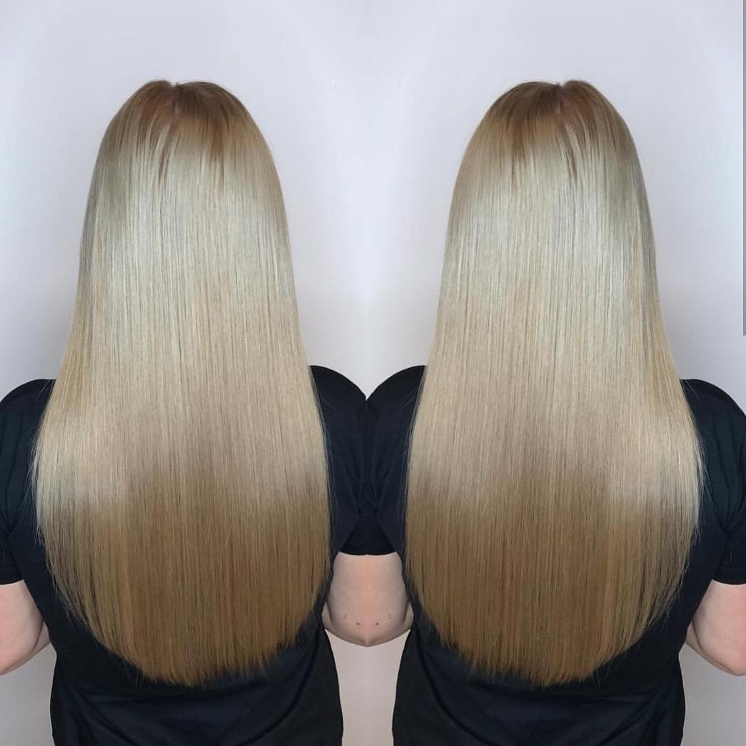 Фото Кератиновое выпрямление волос это идеальная современная процедура.