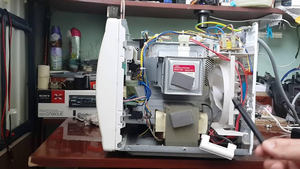 Фото Замена магнетрона в микроволновой печи.