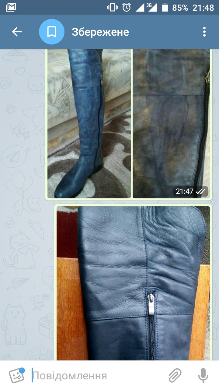 Фото Реставрация поврежденной химическим веществом обуви с повторной покраской.  1 день.