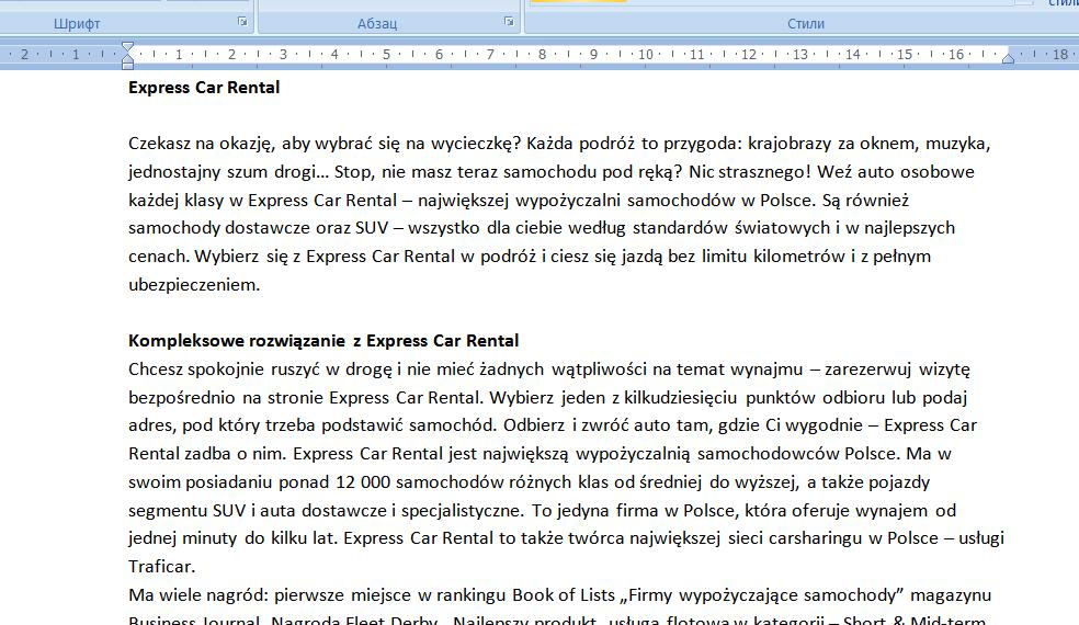 Фото Копирайтинг на польском языке и размещение статей на сайте.