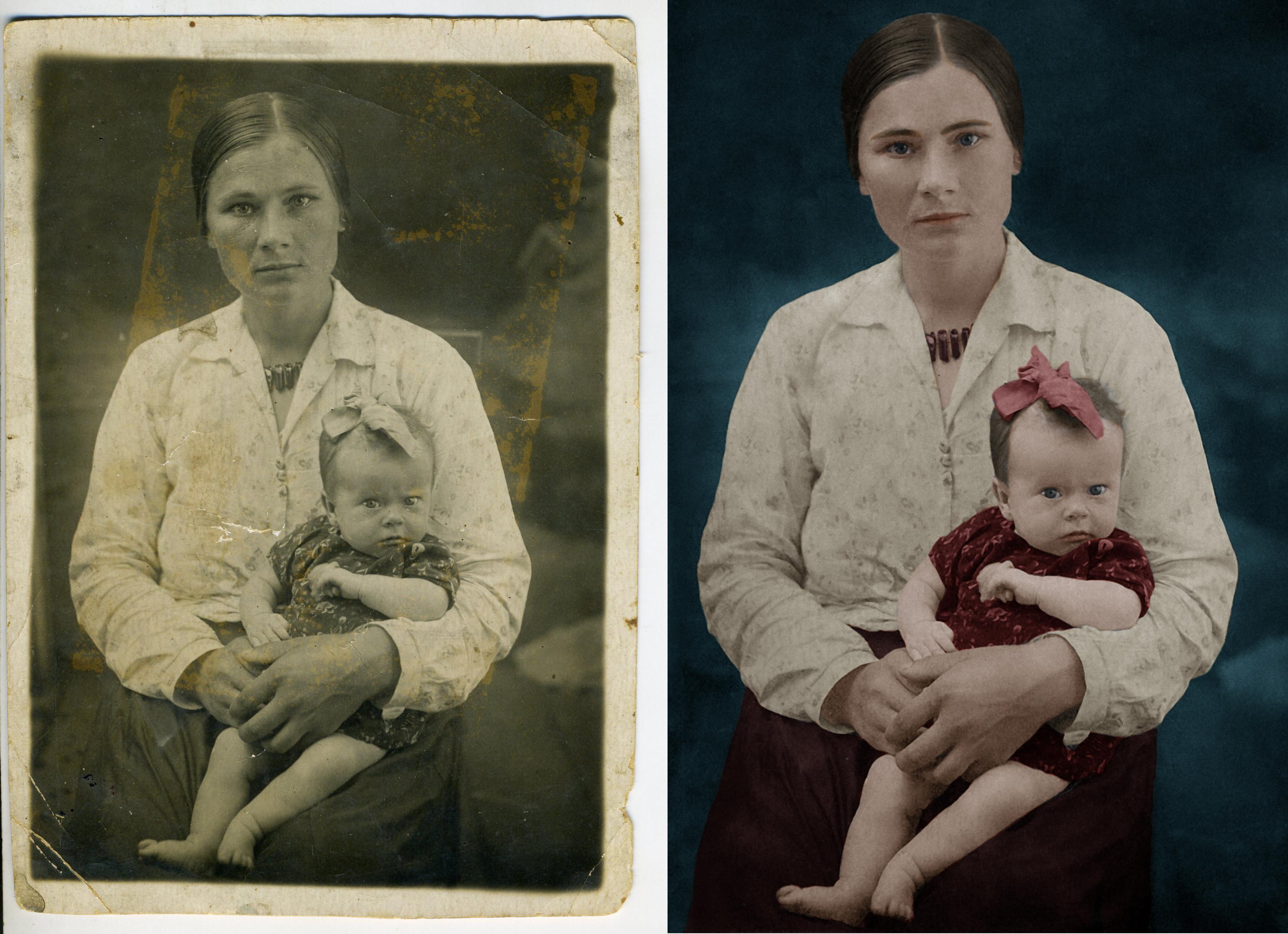 приемы реставрации старых фотографий это время