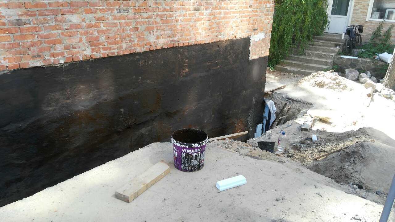 Фото Гидроизоляция фундамента, бетона. 1