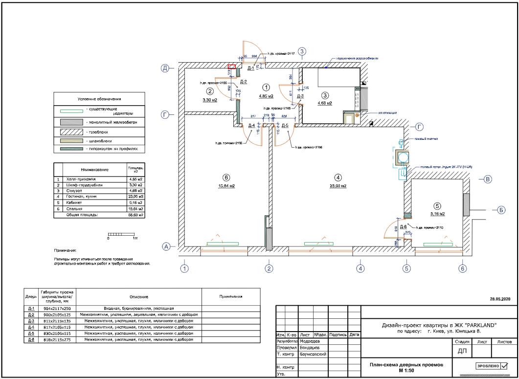 Фото План-схема дверных проемов