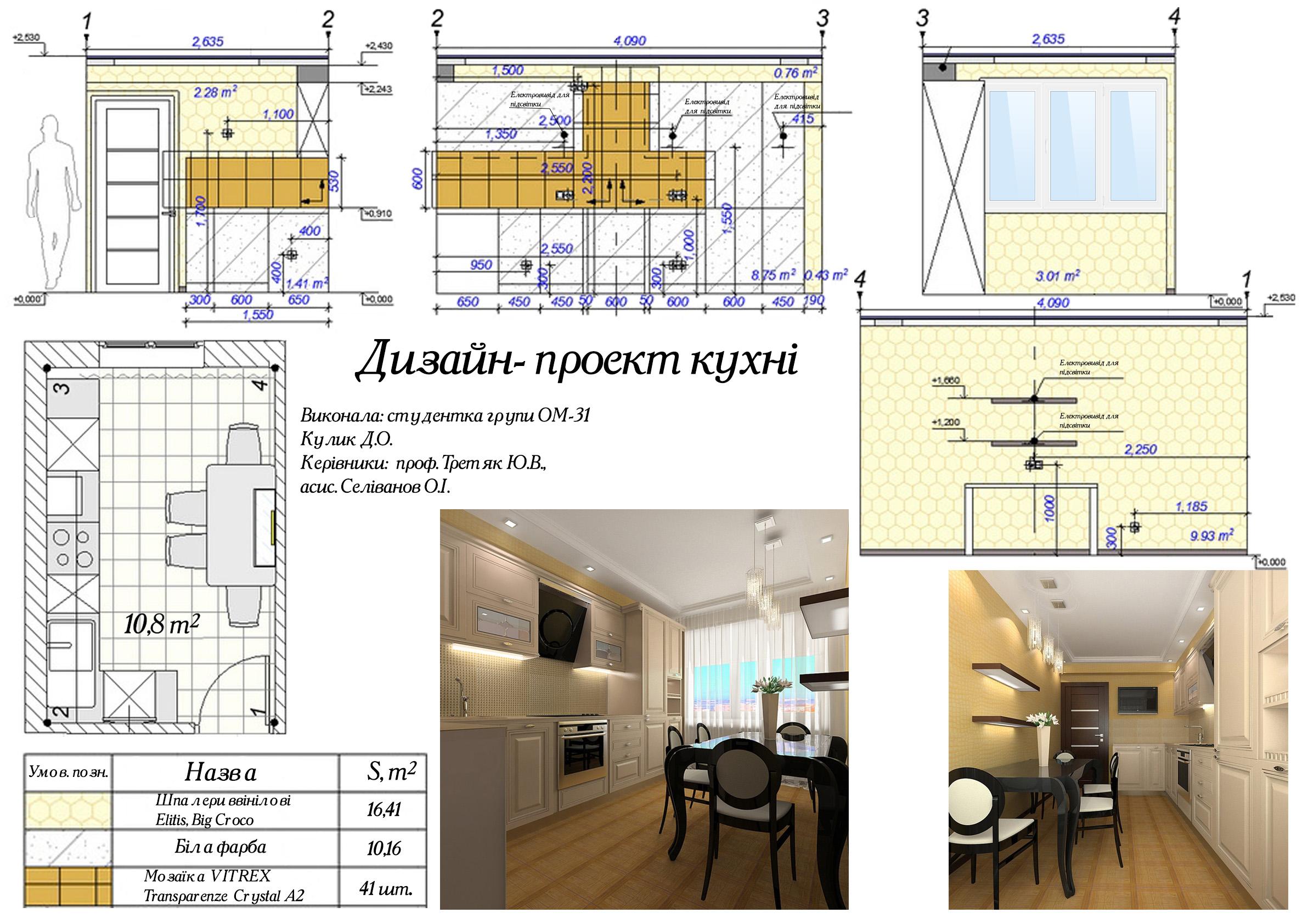 Фото дизайн-проект кухни. 3ds max+Ps+autocad