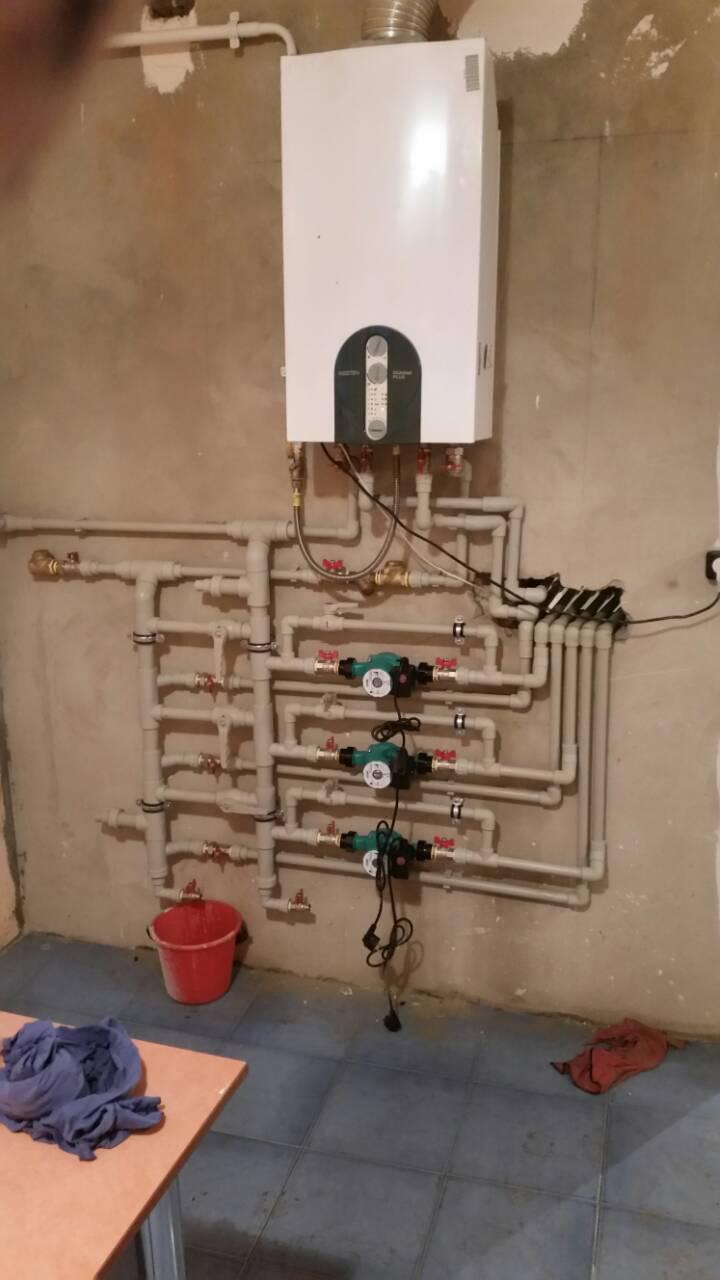 Фото Обвязка электрического и газового котла