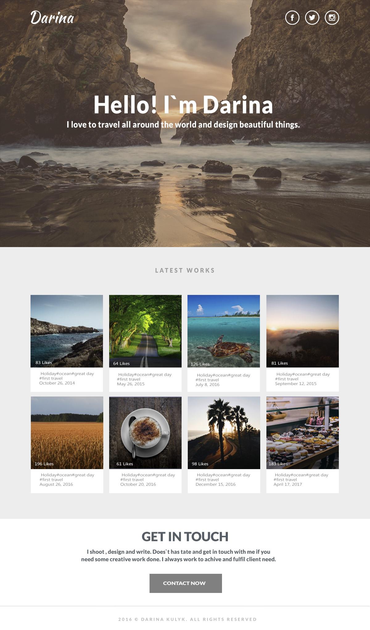 Фото портфолио.вариант личного сайта, с примерами работ .Ps