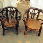 Изготовление эксклюзивной деревянной мебели из веток, ротанга