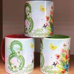 Чашки с печатью к 8 марта!