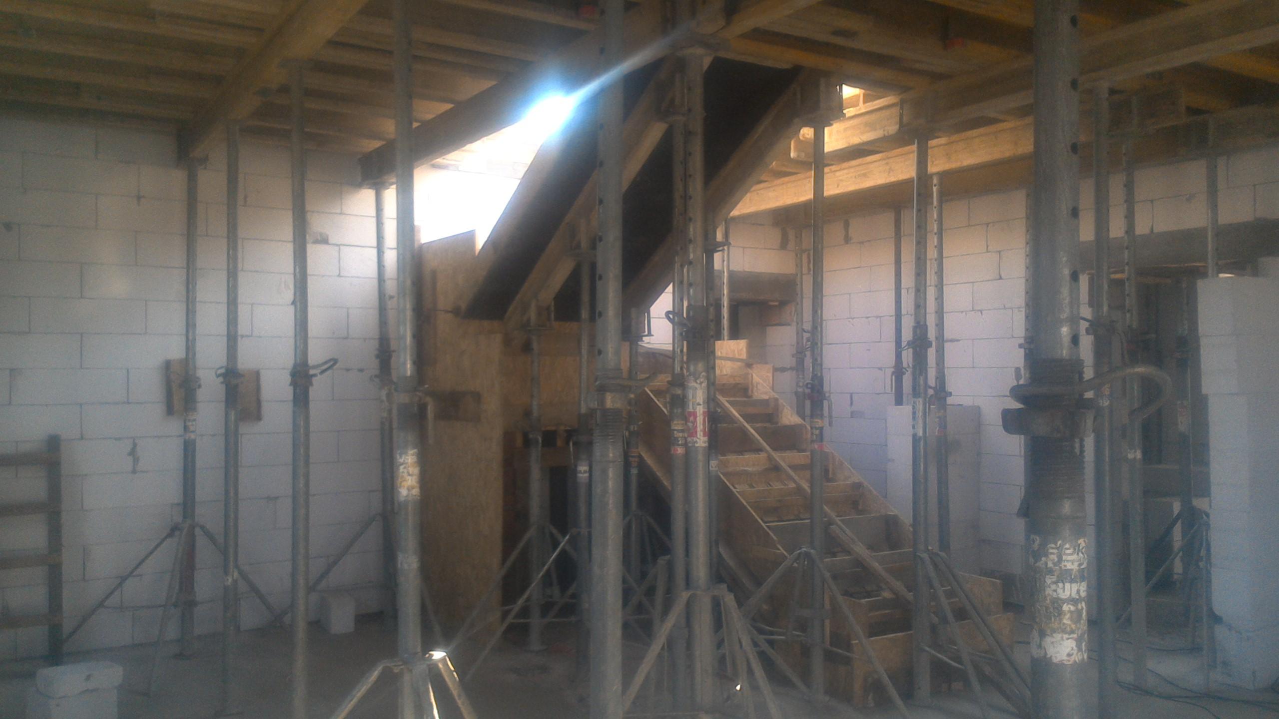 Фото Монолитная лестница и перекрытие