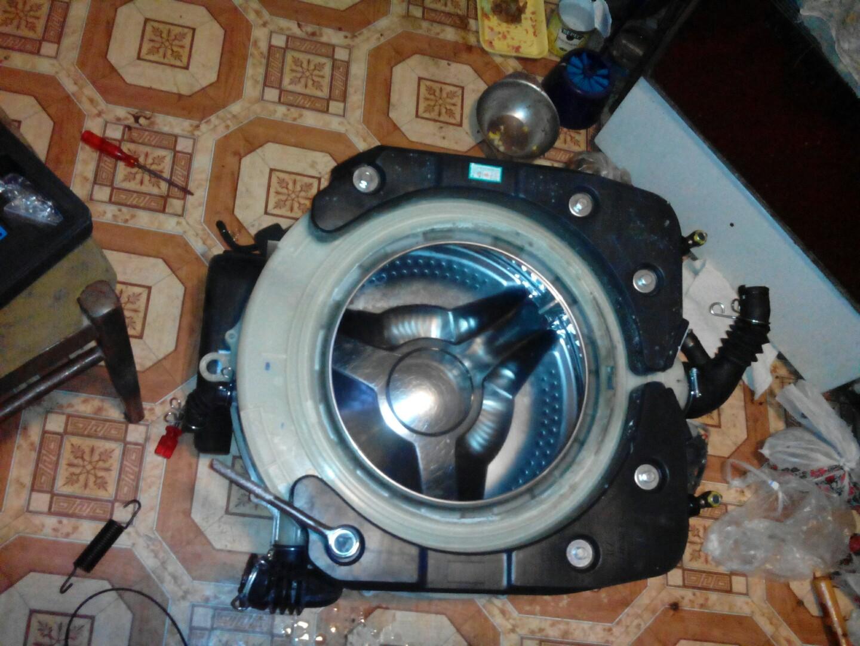 Фото Замена подшипников стиральной машинки  и чистка тэна