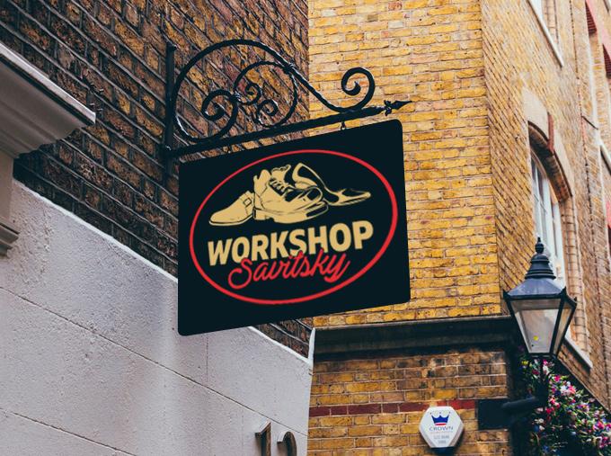 Фото Логотип+вывеска мастерской, обувь и изделия из кожи