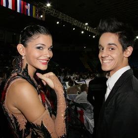 Фото Счастливые победители...  Чемпионат мира по спортивным танцам, Киев, Дворец спорта, репортаж.